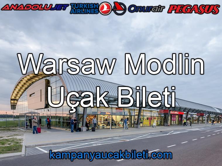 Warsaw Modlin Havalimanı Uçak Bileti