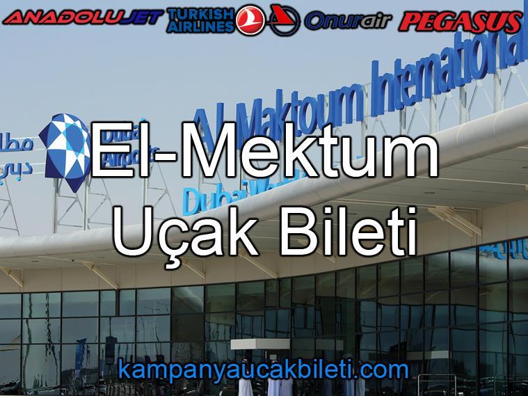 El-Maktoum Havalimanı Uçak Bileti