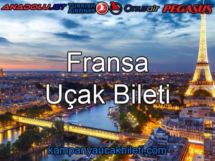 Fransa Uçak Bileti